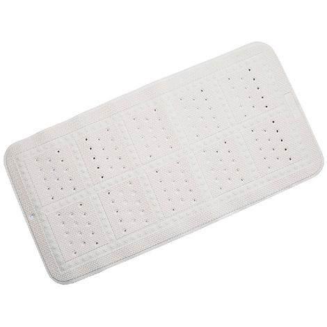 Croydex Anti-Bacterial Slip-Resistant Cushioned Bath Mat - 35 x 70 cm - White