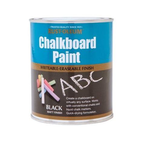 Rust-Oleum Chalkboard Paint - 750ml - Black Matt
