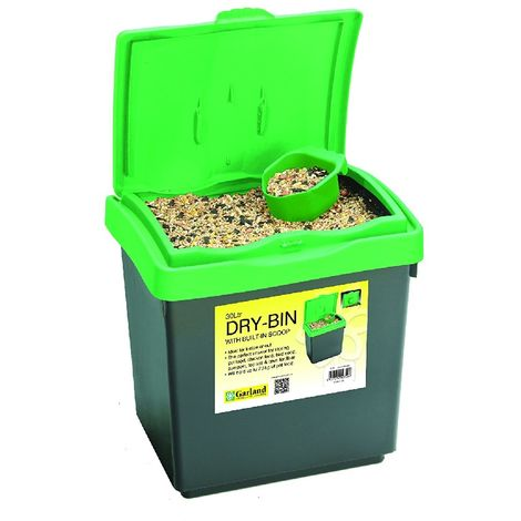 Garland Garden Dry-Bin Storage with Lid - For Dog Cat Pet Food or Bird Seed