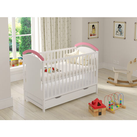Amie Cot with Drawer and Safety Wooden Barrier Variations