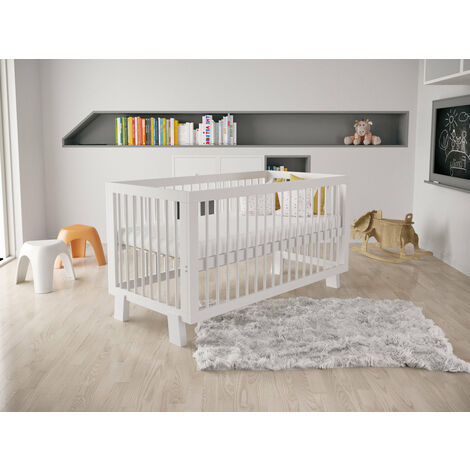 White Alexander Convertible Cot Bed 140 x 70cm