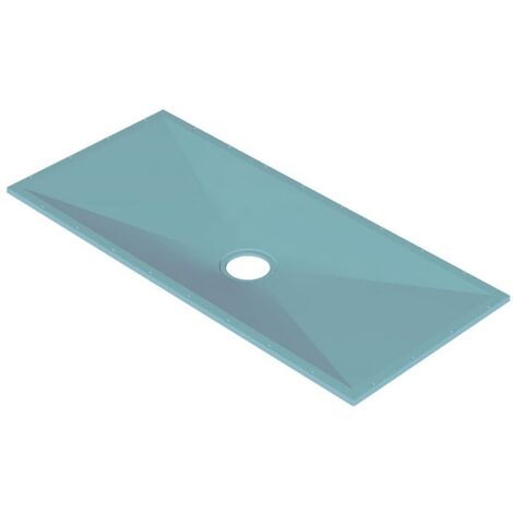 AKW Tuff Form Rectangular Wet Room Former with GW50 Vinyl Waste and Adaptor 1800mm x 820mm