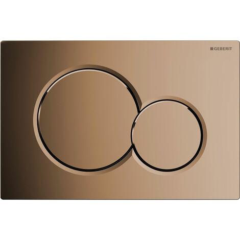 Geberit Sigma01 Dual Flush Plate, Special Brass