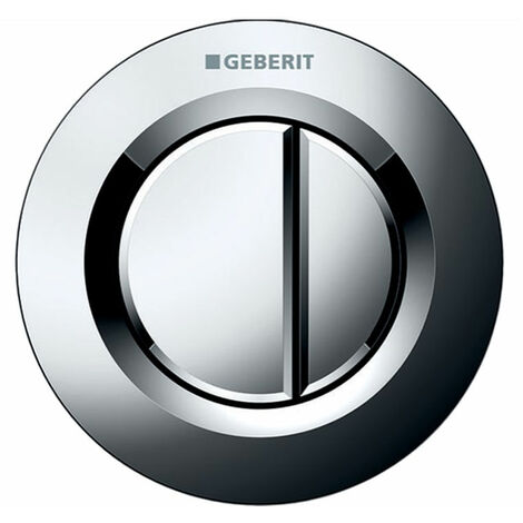 Geberit Type 01 Dual Flush Plate Button for 120mm and 150mm Concealed Cistern - Gloss Chrome