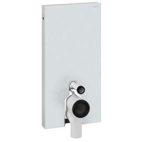 Geberit Monolith Back to Wall Cistern Frame for Floor Standing WC with Fittings - White Glass