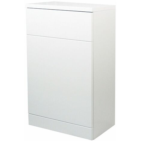 Verona Bianco Back to Wall Toilet Unit 500mm Wide - Gloss White