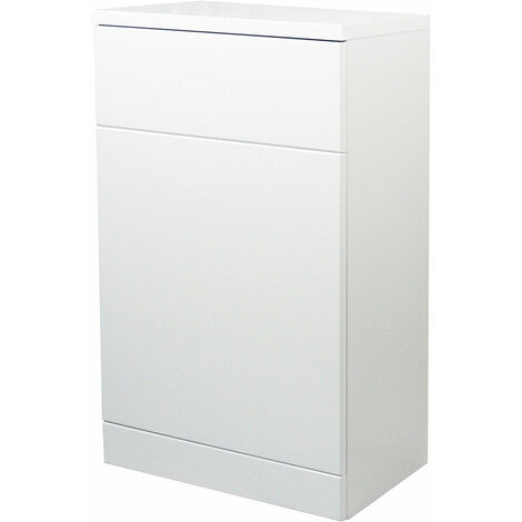 Verona Bianco Back to Wall Toilet Unit 600mm Wide - Gloss White