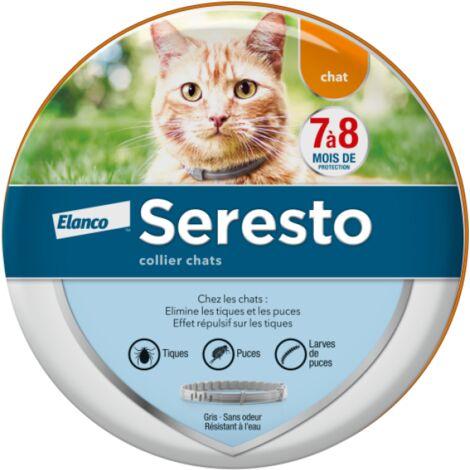 Collier anti-tiques et puces Seresto pour chat - L'unité