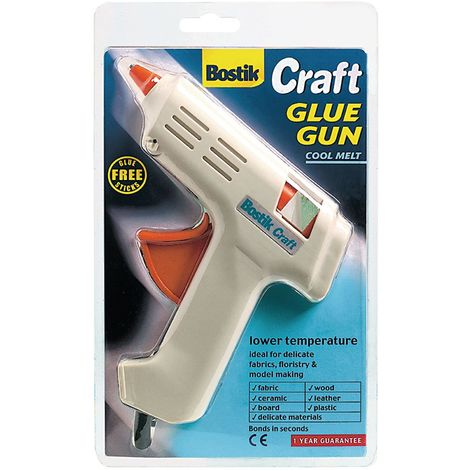 Bostik Craft Glue Gun Cool Melt Ideal for kids, low temperature Melt.