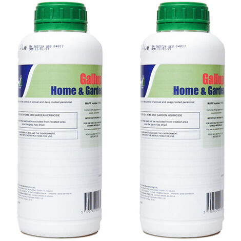 2 Litre Gallup Home & Garden Weed Killer Glyphosate Commercial Strength