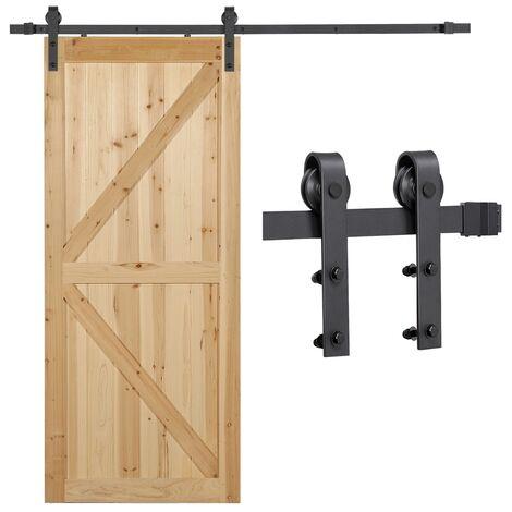 6.6FT Retro Sliding Steel Barn Wood Door Hardware
