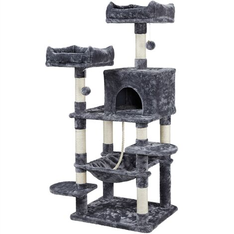 Multi Level Cat Tree Tower Cat Scratch Posts Activity Centre with Condo/Plush Perches/Scratching Post/Hammock for Medium/Large Cats