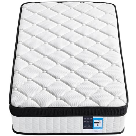3ft Memory Foam Mattress 9-Zone Pocket Sprung Single Bed Mattress Medium Feel with 3D Breathable Knitted Fabric & Airy Mesh for Kids/Adults,Vacuum Packed,(90x190x27cm)