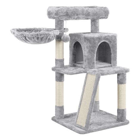 Yaheetech Cat Tree Professional Cat House Medium Cat Tower with Condo Perch Platform Basket Plush Cover Cat Supplies Scratching Board Posts