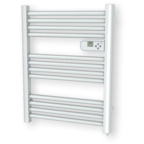 Cayenne radiateur sèche-serviette 500W mini tubes ronds blanc LCD