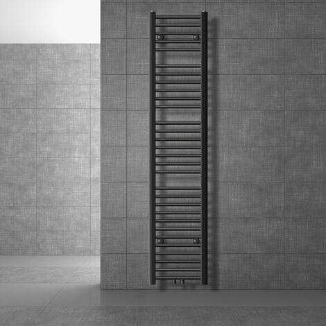 ECD Germany Radiatore Scaldasalviette Sahara - 300 x 1800 mm - Antracite - Dritto con Attacco Centrale - Radiatore Scaldasalviette Asciugabiancheria 300x1800 mm