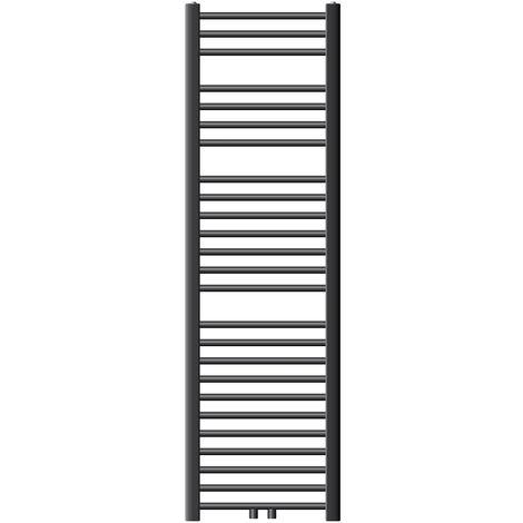 ECD Germany Radiador de baño Sahara - 400 x 1500 mm - antracita - curvado con conexión lateral - radiador toallero agua calefaccion - No electrico
