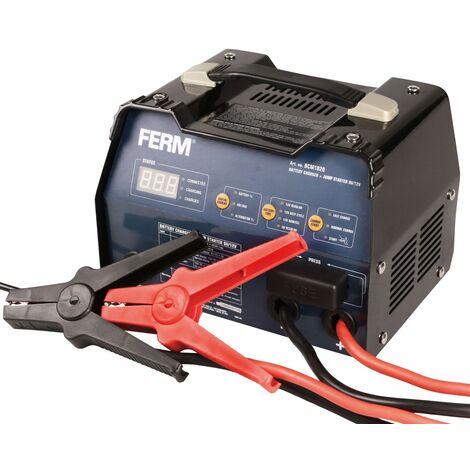 FERM BCM1020 Chargeur de batterie aide au démarrage 6V/12V -12A