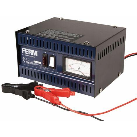 FERM BCM1021 Chargeur de batterie en métal 5A 6/12V