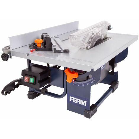 FERM TSM1036 Scie sur table 800W - Lame de scie Ø200mm 24 dents