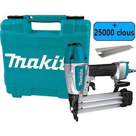 MAKITA AF506 CLOUEUR DE FINITION + 25000 clous 15/22/30/40/50mm 18GA