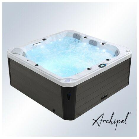 Spa 5 places Archipel® GT5 MAX - Spa Thérapeutique Balboa® 215 x 215 cm - Blanc marbré