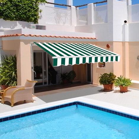 Greenbay 3 x 2.5m Manual Awning Garden Patio Canopy Sun Shade Shelter Retractable