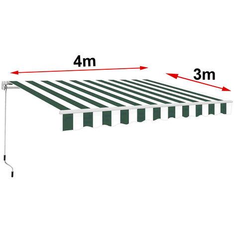Greenbay 4 x 3m Manual Awning Garden Patio Canopy Sun Shade Shelter Retractable