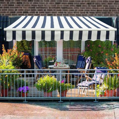 Greenbay 2.5 x 2m Manual Awning Garden Patio Canopy Sun Shade Shelter Retractable