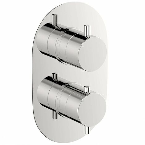 Mode Harrison oval twin thermostatic shower valve