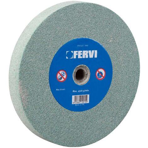 MEULE ABRASIVE 80 GRAIN CARBURE DE SILICIUM 150x20x32 mm FERVI MV01/80