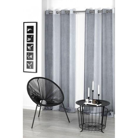Visillo Tie Dye 140x265cm gris