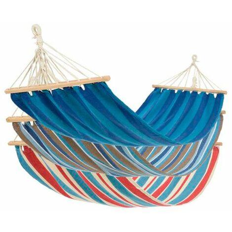 Hamaca tumbona de tela en colores colgante