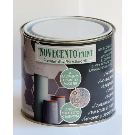 Pittura Gessosa all'Acqua Per Pavimenti e Rivestimenti 500Ml Nero Perfetto