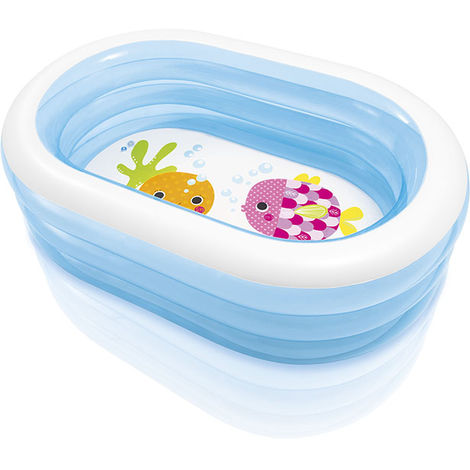 INTEX Babypool Planschbecken Pool Kinderpool Walspaß Whale Fun 163x107cm 57482