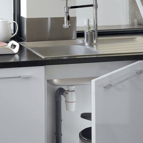 Siphon NEO Air System bi-matiere N.F Evier O40