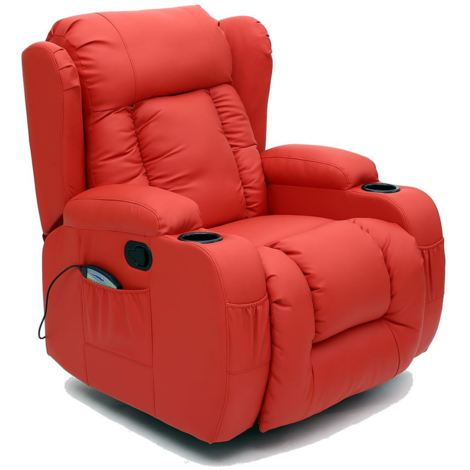 CAESAR LEATHER RECLINER CHAIR - different colors available