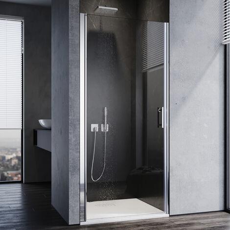 SONNI Duschkabine 86 x 185 cm Duschtür Pendeltür Duschabtrennung, NANO Glas