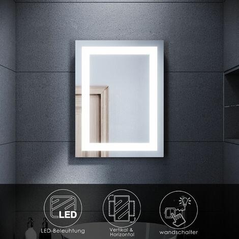 SONNI Badspiegel LED Beleuchtung Badezimmerspiegel mit led Wandspiegel led Bad,