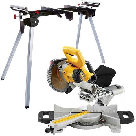 Dewalt DCS365N 18V XR Cordless XPS 184mm Slide Mitre Saw Body Only + Leg Stand
