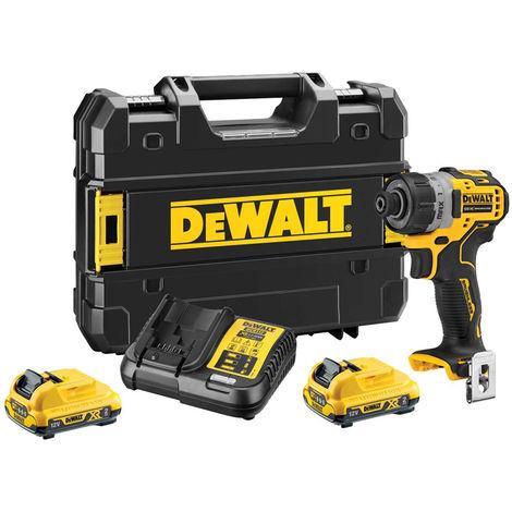 Dewalt DCF601D2 12V Brushless Sub Compact Screwdriver with 2 x 2.0Ah Batteries Charger & Case:12V