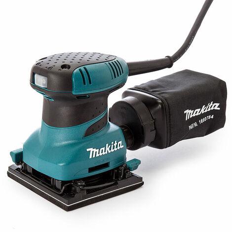 "Makita BO4556 1/4"" Finishing Palm Grip Sander with Dust Bag 240V"