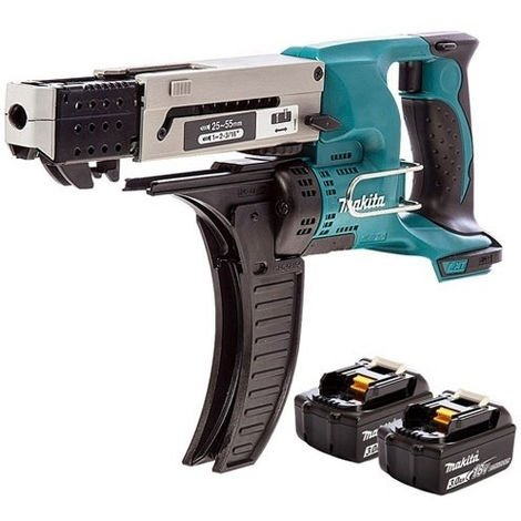 Makita DFR550Z 18v Auto Feed Screwdriver With With 2 x 3.0Ah Batteries