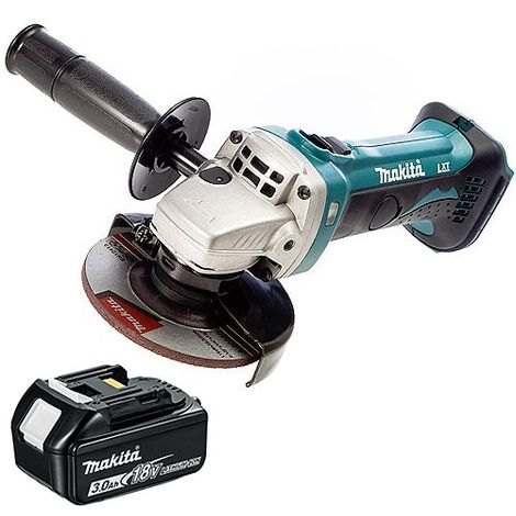 Makita DGA452Z 18V 115mm Cordless Angle Grinder With 1 x 3.0Ah Battery