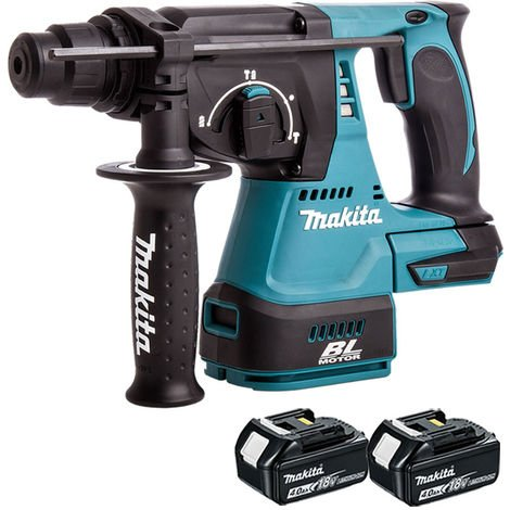 Makita DHR242Z 18V Brushless SDS + Rotary Hammer & 2 x 4Ah Batteries