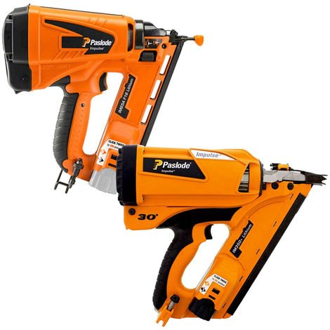 Paslode IM350+ Framing Nailer First Fix Gun & IM65A F16 Angled Brad Nailer 2nd Fix