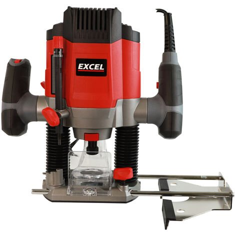 """Excel 1200W 1/4"""" Electric Plunge Router Heavy Duty with Variable Speed"""