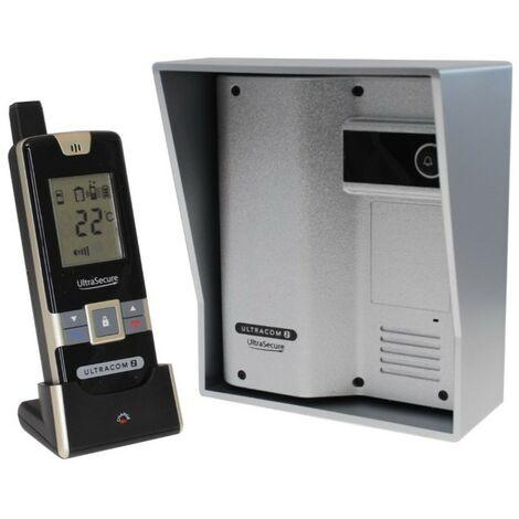 Wireless Gate & Door Intercom (UltraCom2 No keypad) Silver with Silver Hood [006-2530]