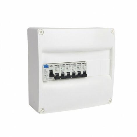 Tableau électrique pré-équipé 1 rangée 13 modules 1 ID + 6 disjoncteurs NALTO