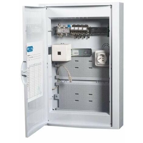Coffret de Communication TEL/TV WIFI/ADSL avec 4 connecteurs RJ45 - GRADE2 NALTO
